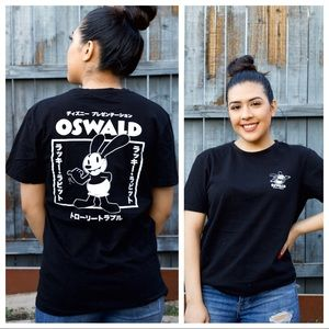 Disney Oswald The Lucky Rabbit Kanji Graphic T